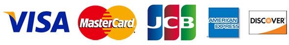クレジットカード:VISA、Master、JCB、AMEX、Discover
